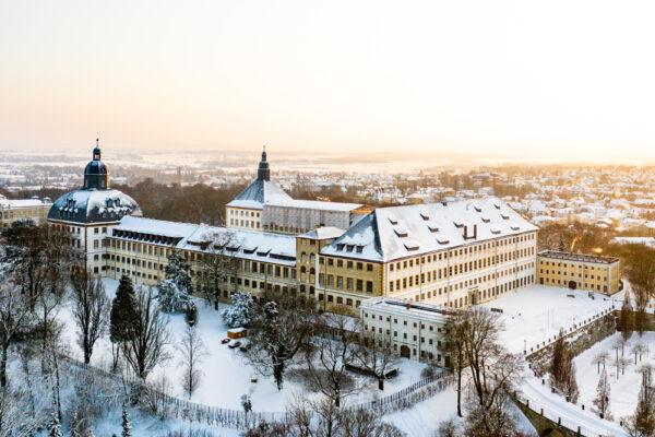 Schloss Friedenstein im Winter